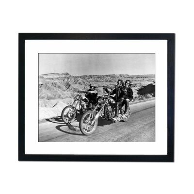 Culture Decor Easy Rider in The Desert Framed Photographic Print