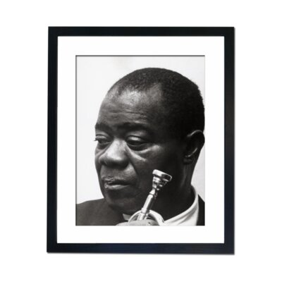 Culture Decor Louis Armstrong Framed Photographic Print