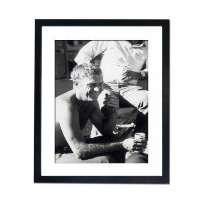 Culture Decor Steve McQueen Relaxing Framed Photographic Print