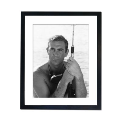 Culture Decor Sean Connery with Spear Gun Framed Photographic Print
