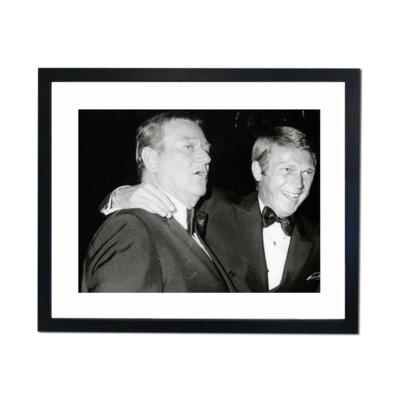Culture Decor John Wayne Steve McQueen Framed Photographic Print