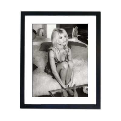 Culture Decor Brigitte Bardot Relaxing Framed Photographic Print