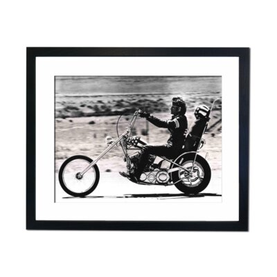 Culture Decor Peter Fonda Easy Rider Framed Photographic Print