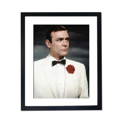 Culture Decor Sean Connery Red Carnation Framed Photographic Print