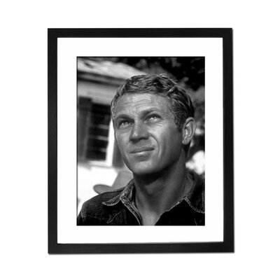 Culture Decor Steve McQueen Portrait Framed Photographic Print