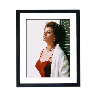 Culture Decor Sophia Loren Tricola Framed Photographic Print
