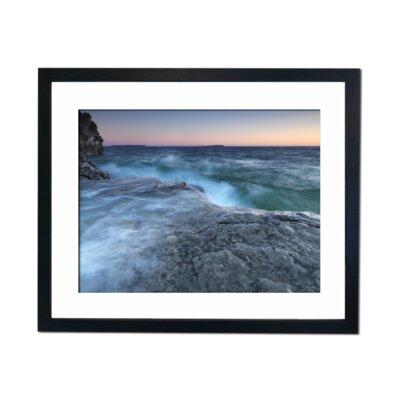 Culture Decor Sea on The Rocks Framed Photographic Print