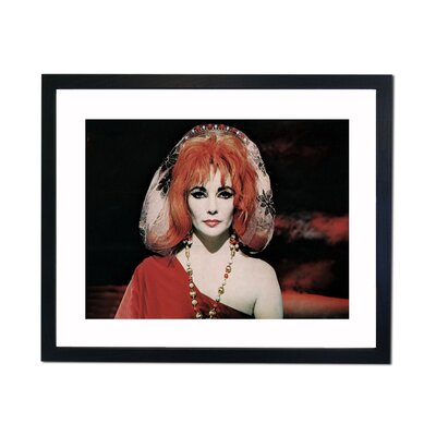 Culture Decor Liz Taylor Framed Photographic Print