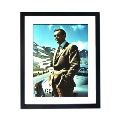 Culture Decor Sean Connery - Aston Martin DB5 Framed Photographic Print