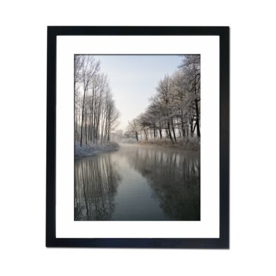 Culture Decor Winter Lake Framed Photographic Print