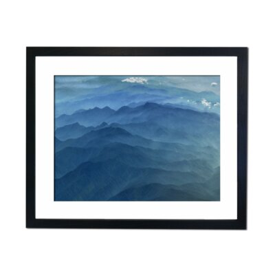 Culture Decor Turquoise Mountains Framed Art Print
