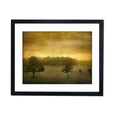 Culture Decor Sepia Trees Framed Graphic Art