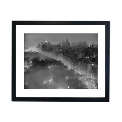 Culture Decor Central Park At Night Framed Photographic Print