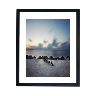 Culture Decor Surfing Framed Photographic Print