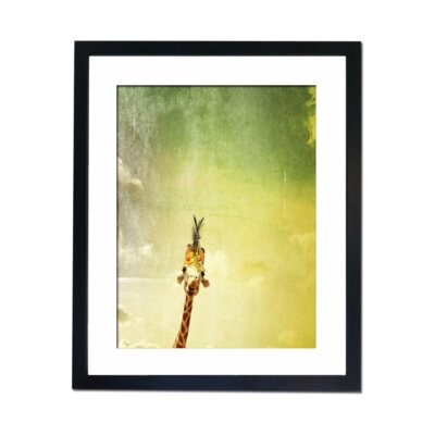Culture Decor Abstract Giraffe Framed Graphic Art