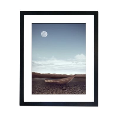 Culture Decor Moon Boat Framed Photographic Print