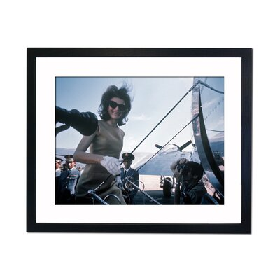 Culture Decor Jackie Kennedy Boarding Plane Framed Photographic Print