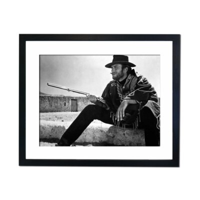 Culture Decor Clint Eastwood Fist Full of Dollars Framed Photographic Print