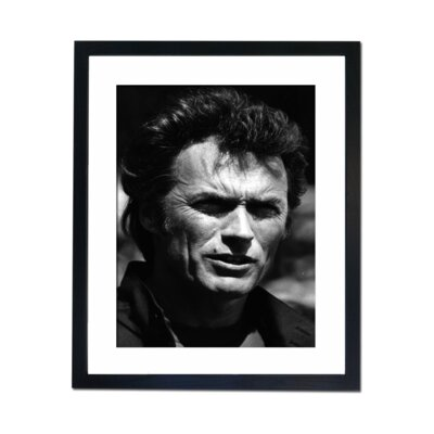 Culture Decor Clint Eastwood Portrait Framed Photographic Print