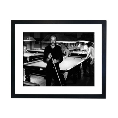 Culture Decor San Connery Snooker Framed Photographic Print