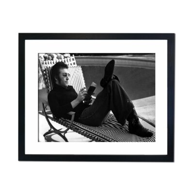 Culture Decor John Lennon Reading and Relaxed Framed Photographic Print