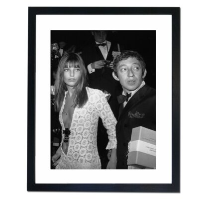 Culture Decor Serge Gainsbourg and Jane Birkin Framed Photographic Print