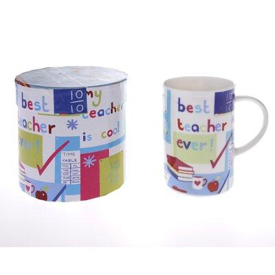 Buttercup of London Celebrations 10cm Fine Bone China Best Teacher Mug