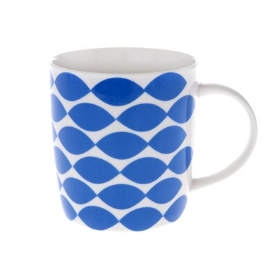 Buttercup of London Crown Regal 10cm Fine Bone China Mug in Blue