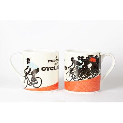 Buttercup of London Woop Studios 10cm Fine Bone China A Peloton of Cyclists Mug