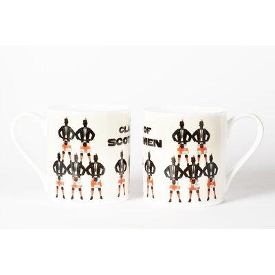 Buttercup of London Woop Studios 10cm Fine Bone China A Clan of Scotsmen Mug