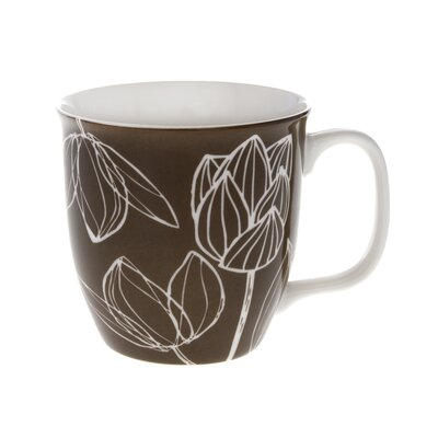 Buttercup of London Crown Regal 10cm Fine Bone China Tulip Etch Mug