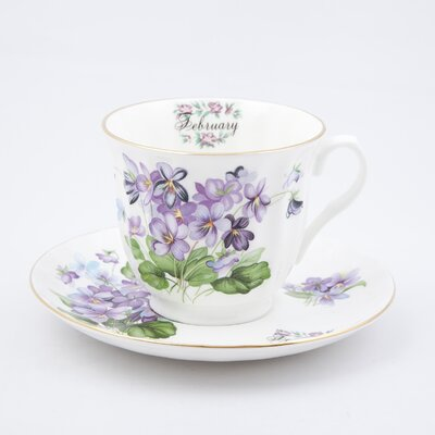 Buttercup of London Flowers of the Month February 30cm Bone China Cup and Saucer