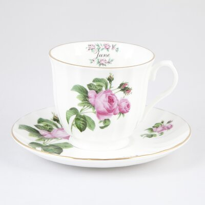 Buttercup of London Flowers of the Month June 30cm Bone China Cup and Saucer