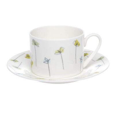Buttercup of London Mustard and Cress 30cm Bone China Straight Cup and Saucer