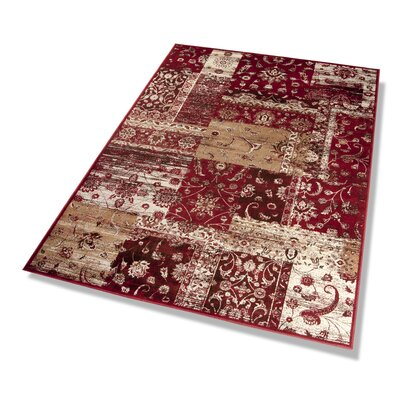 Dekowe Teppich Vintage in Rot