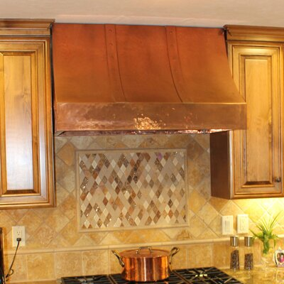 "54"" Coventry 1200 CFM Ducted Wall Mount Range Hood Color: Dark Brown Patina, Height: 38"""
