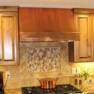 "30"" Coventry 300 CFM Ducted Wall Mount Range Hood Height: 38"", Color: Polished Copper"