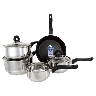 Buckingham Induction 5-Piece Non-Stick Stainless Steel Cookware Set