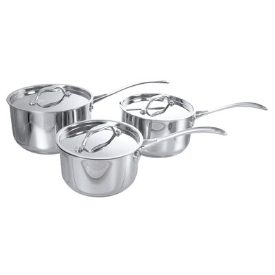 Buckingham 3-Piece Saucepan Set with Lids