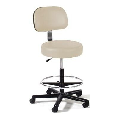Height Adjustable Lab Stool with Single Lever Release Base Finish: Black Composite