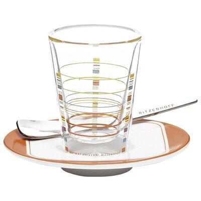 Ritzenhoff Espressogla -Set Bacino mit Untertasse und Löffel