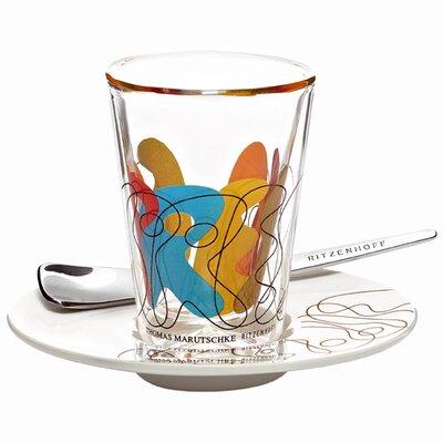 Ritzenhoff Espressoglas -Set Bacino mit Untertasse und Löffel