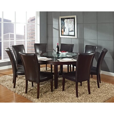 Fenley 7 Piece Dining Set Chair Upholstery: Brown