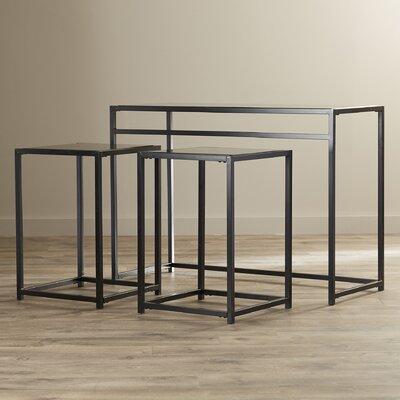 Burke Glass 3 Piece Console Table Set