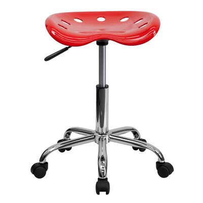 Raymond Height Adjustable Industrial Stool Finish: Red