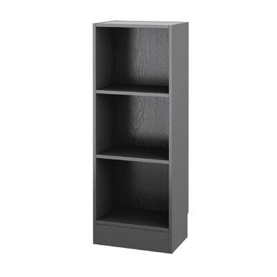 "Vernice Standard Bookcase Size: 42"" H x 16"" W x 10.5"" D, Color: Black"