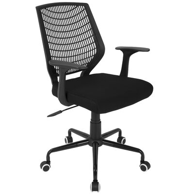 Kane Desk Chair Color: Black