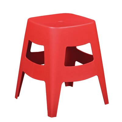 Maxwell Stacking Stool Finish: Red