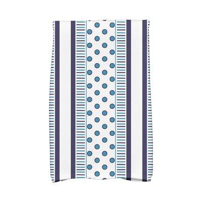 Comb Hand Towel Color: Navy/Light Blue