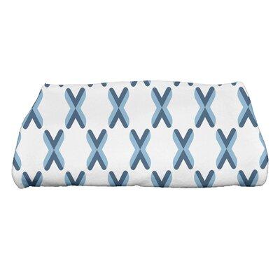 Criss Bath Towel Color: Blue